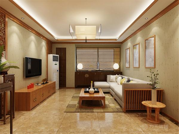 该案为新中式风格。在整体空间上采用了相对对称的布局方式,为了增加客厅的私密性解决客餐厅的空间层次问题