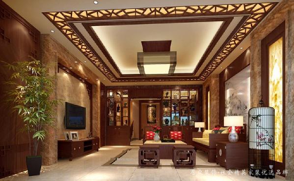 在中国文化风靡全球的现今时代,中式元素与现代材质的巧妙兼柔,明清家具、窗棂、布艺品相互辉映,再现了移步变景的精妙小品。