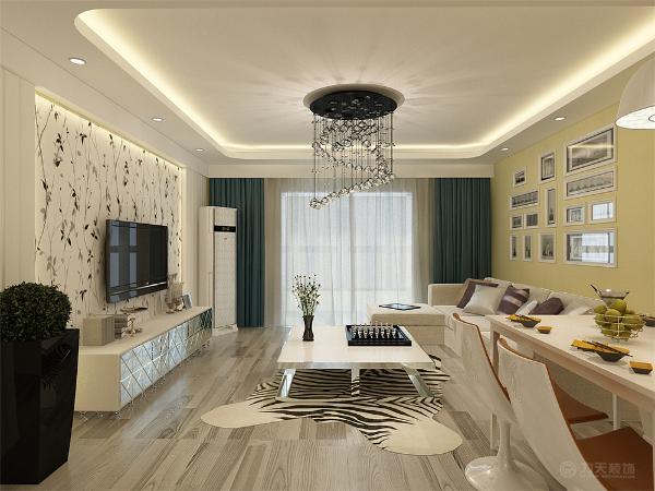 这是一套天津福华里95㎡两室1厅一厨2卫户型。此次设计方案定义为简约风格。客厅与餐厅是整个在一个空间的格局。厨房是半开方式厨房,增加区域与彩光;