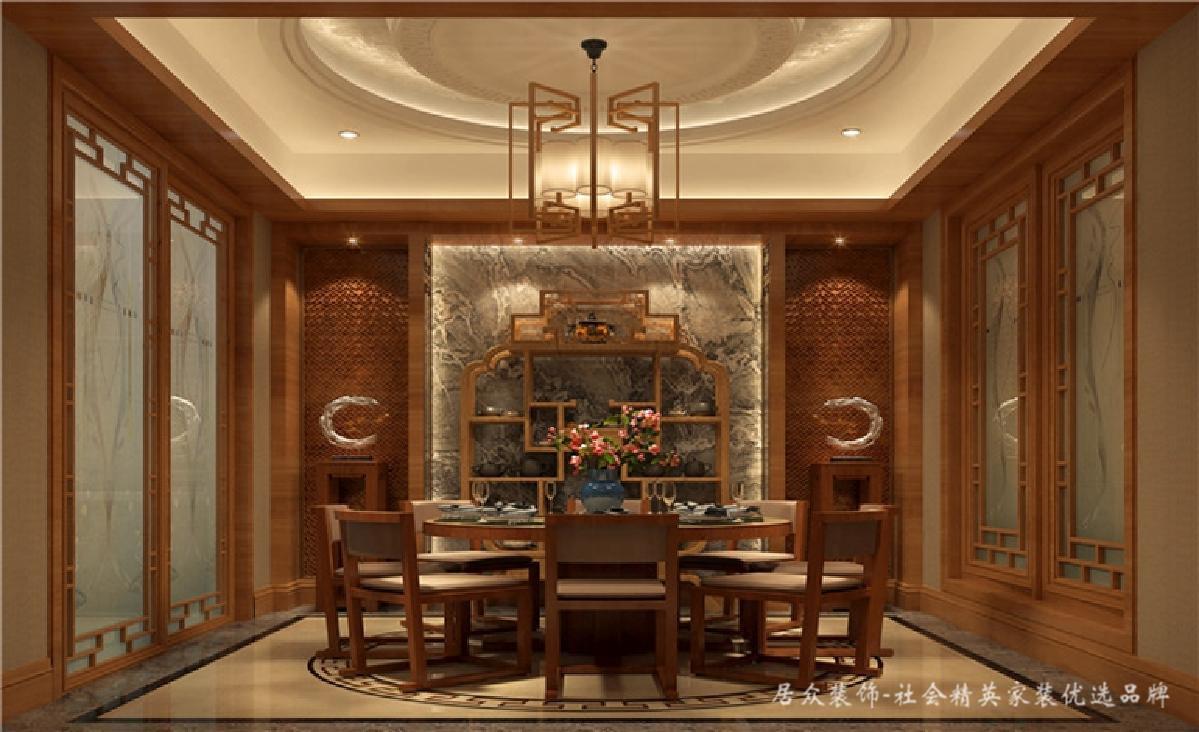 别墅 中式 新中式 餐厅图片来自深圳居众装饰集团在典雅尊贵中式别墅-350㎡的分享