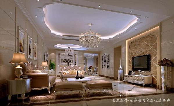 业主对居室装修的要求清晰、明了,即在功能合理布局、材料品质上乘的前提下,摒弃古典欧式繁杂细致的造型,运用欧式线条及构造特点展现大气豪华的视觉空间。