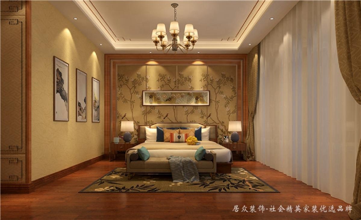 别墅 中式 新中式 卧室图片来自深圳居众装饰集团在典雅尊贵中式别墅-350㎡的分享