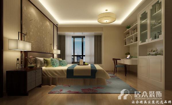适当的蓝色点缀,使整个居室在浓浓古韵中渗透了几许清新现代气息。