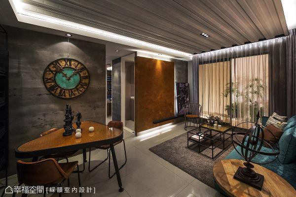 彩韵室内设计以工业风为题,藉由替代质材、家具软件的搭配,精彩呈现个性十足的风格魅力。