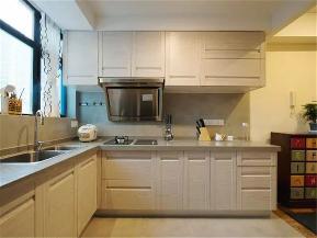 混搭 宜家 二居 白领 收纳 小资 厨房图片来自沙漠雪雨在105平米清爽温馨混搭宜家风的分享
