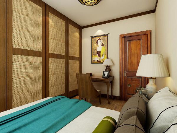 做U型造型,圈木线与整体颜色统一。整个空间东南亚风格色彩浓郁,让业主有一种异域风情。