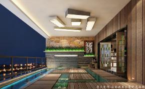 中式 居众 别墅 阳台图片来自重庆居众装饰在万科悦湾-中式风格-384㎡的分享