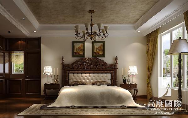 温哥华花园中式风格----卧室细节效果图