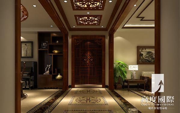 温哥华花园中式风格----门厅细节效果图