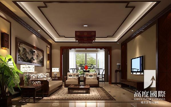 温哥华花园中式风格----客厅细节效果图