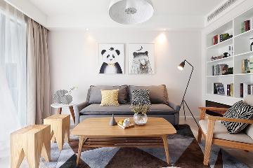 141平三居室北欧风格