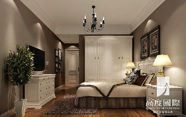 九龙仓御园-190平方米-简约美式-卧室