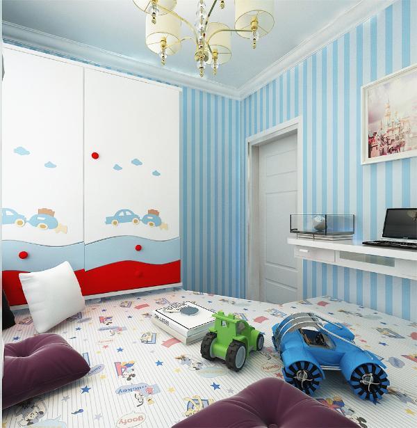 儿童房采用榻榻米,简易的儿童衣柜,书桌及玩具的摆放,使得整个空间氛围更具活力,简单的诠释了现代简约风格的特点;卧室采用木地板,减少光的反射为业主提供舒适的休息空间。