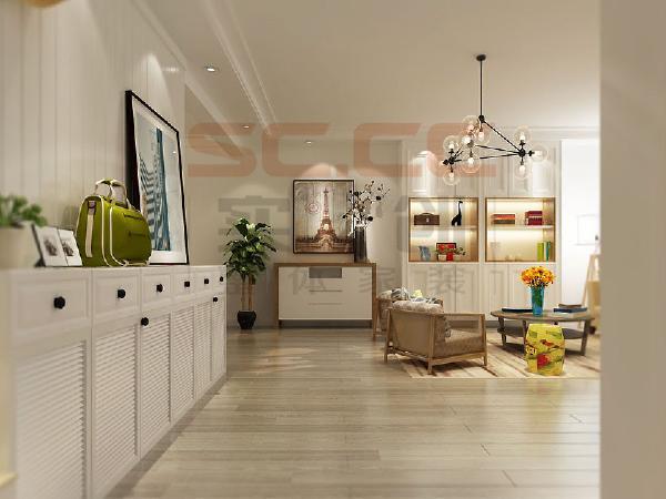 整个房间凸显北欧风的纯粹感,在家居配饰的选择上推荐了更多宜家家具,即增加空间储物也满足美感的双重需求。