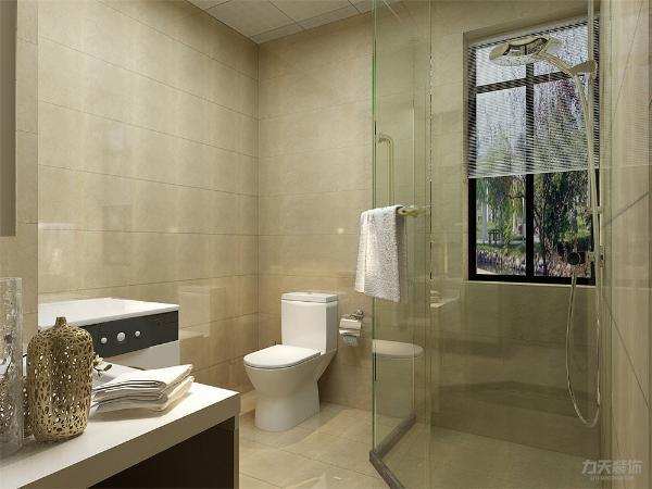 现代风格的卫生间设计追求富有时代的生活气。