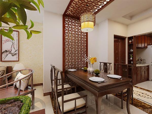 餐厅是家里聚餐的地方,选择方形餐桌,客厅是主人会客的地方。