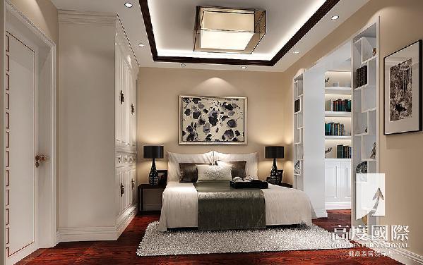 建发翡翠鹭洲—新中式风格—成都高度国际装饰设计--卧室