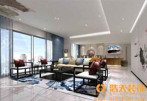 新中式风格是作为传统中式家居风格的现代生活理念,通过提取传统家居的精华元素和生活符号进程合理的搭配、布局,