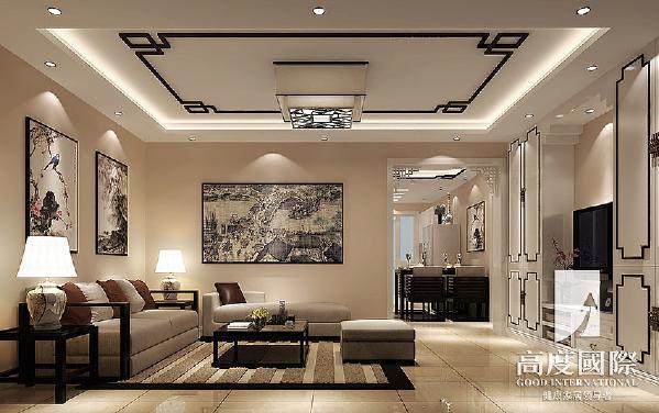 建发翡翠鹭洲—新中式风格—成都高度国际装饰设计--客厅