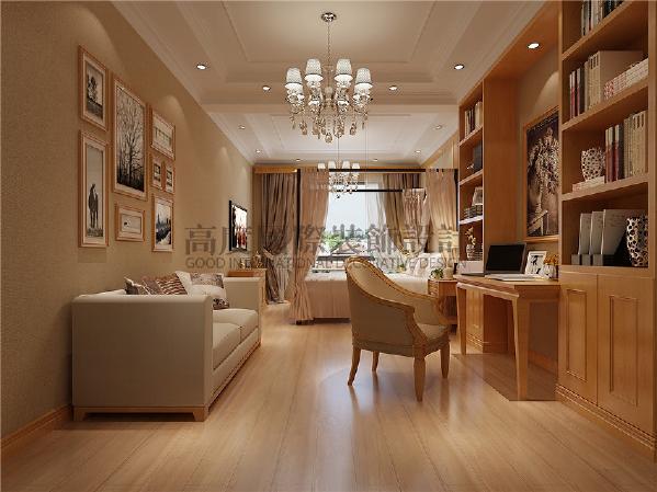 中德英伦联邦美式古典风格案例-成都高度国际--书房
