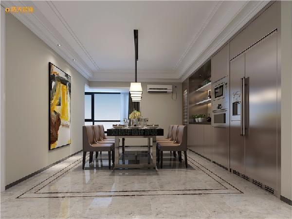 设计师在处理空间方面强调室内空间宽敞、内外通透,在空间平面设计中追求不受承重墙限制的自由。