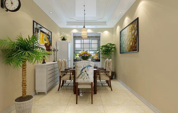 餐厅和客厅相辅相成,采用做旧的木质餐桌,有一种回归自然的感觉。小鸟团的餐椅,更加的悠闲自在。