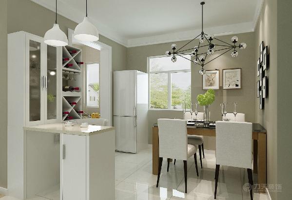 在厨房与餐厅之间做吧台,作为厨房到餐厅的过度,也可以起到制作简单食物和传菜的作用。