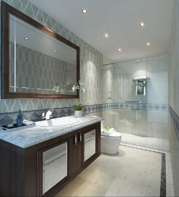浅色系墙地砖,透显空间化,干湿的分区,彰显主人的区域合理化。