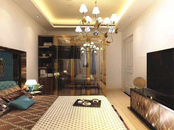 整体方案采用较为鲜明的色彩对比,白色地砖更显格外简明,与米白色的沙发相呼应,线条简洁,整体搭配合理,在视觉上给人一种宽敞明亮的感觉。