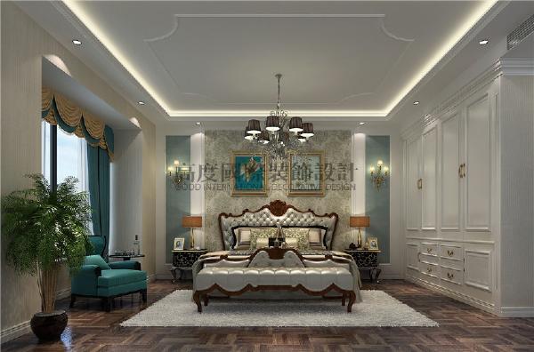 建发鹭州国际156平米装修案例 简约欧式   卧室