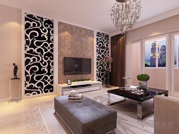 沙发背景墙是用两幅装饰画装饰,地面800*800大地砖直铺。餐厅顶面白色乳胶漆,背景墙是用装饰画装饰外加一个餐边柜地面800*800大地砖直铺。
