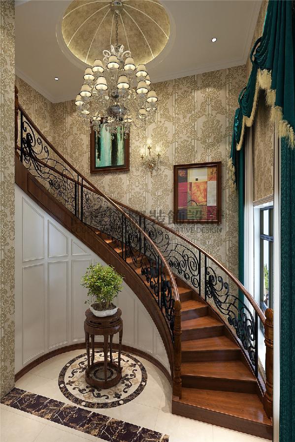 建发鹭州国际156平米装修案例 简约欧式   楼梯