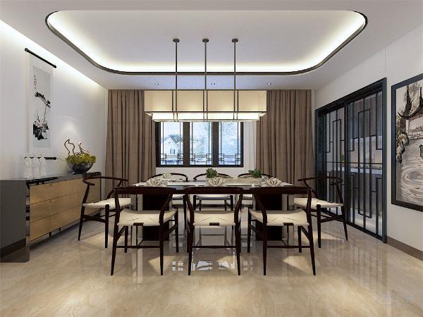 装饰主要采用硬朗简洁的直线条,空间具有层次感,既使得中式家具古典质朴的内涵显现,又符合现代人追求的时尚感,实用性。色调统一,给人一种温馨视觉感受,简单大方,和布艺家具协调统一,营造出温馨的气氛。