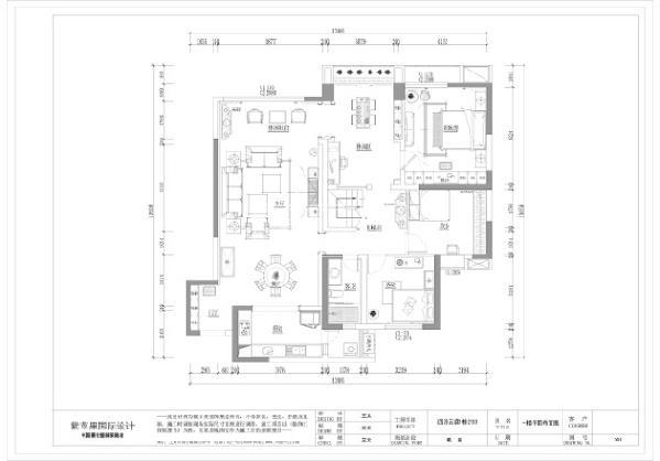 成都四海云庭 215平方 美式风格 成都紫苹果装饰 装修热线:18228939660