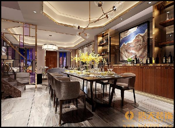 设计师采用老上海的风格进行了装饰演绎,突出了公馆的文化概念以及浓浓的人文情怀。