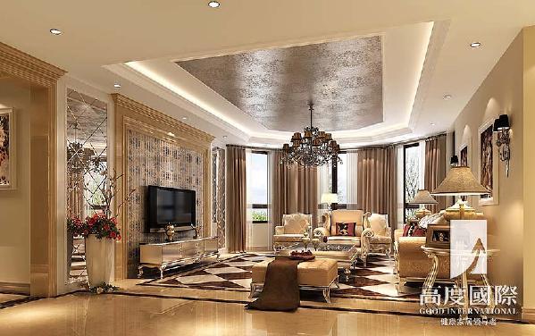 世茂玉锦湾-186平方米-欧式风格-客厅