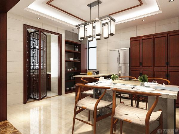 地面采用明亮的玻化砖通铺使空间显得宽敞明亮。用绿植点缀空间节点,丰富空间层次感。