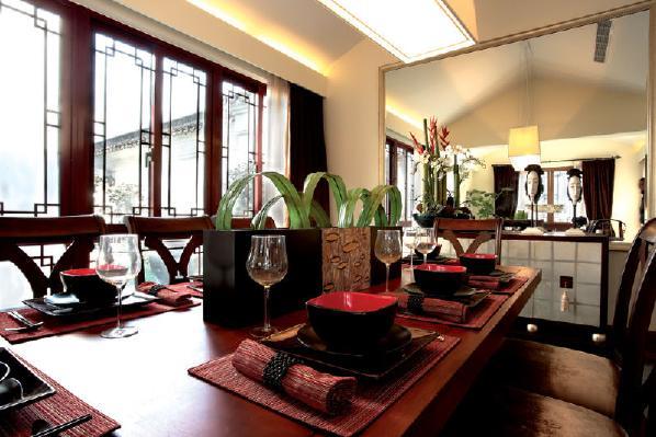 那么新中式古典主义风格是以中国传统古典文化作为背景的,营造的是极富中国浪漫情调的生活空间,红木、青花瓷、紫砂茶壶以及一些红木工艺品等都体现了浓郁的东方之美