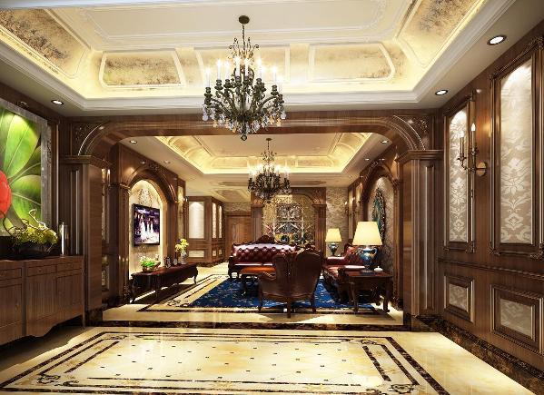 莫奈庄园别墅户型装修欧美风格设计方案展示,上海腾龙别墅设计师劳纳作品,欢迎品鉴!
