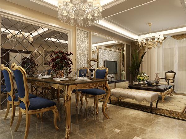 沙发背景墙使用了挂画装饰,电视背景墙使用了壁纸和石材装饰,同样是暖色调的淡黄色,给人一种温馨舒适的感觉。