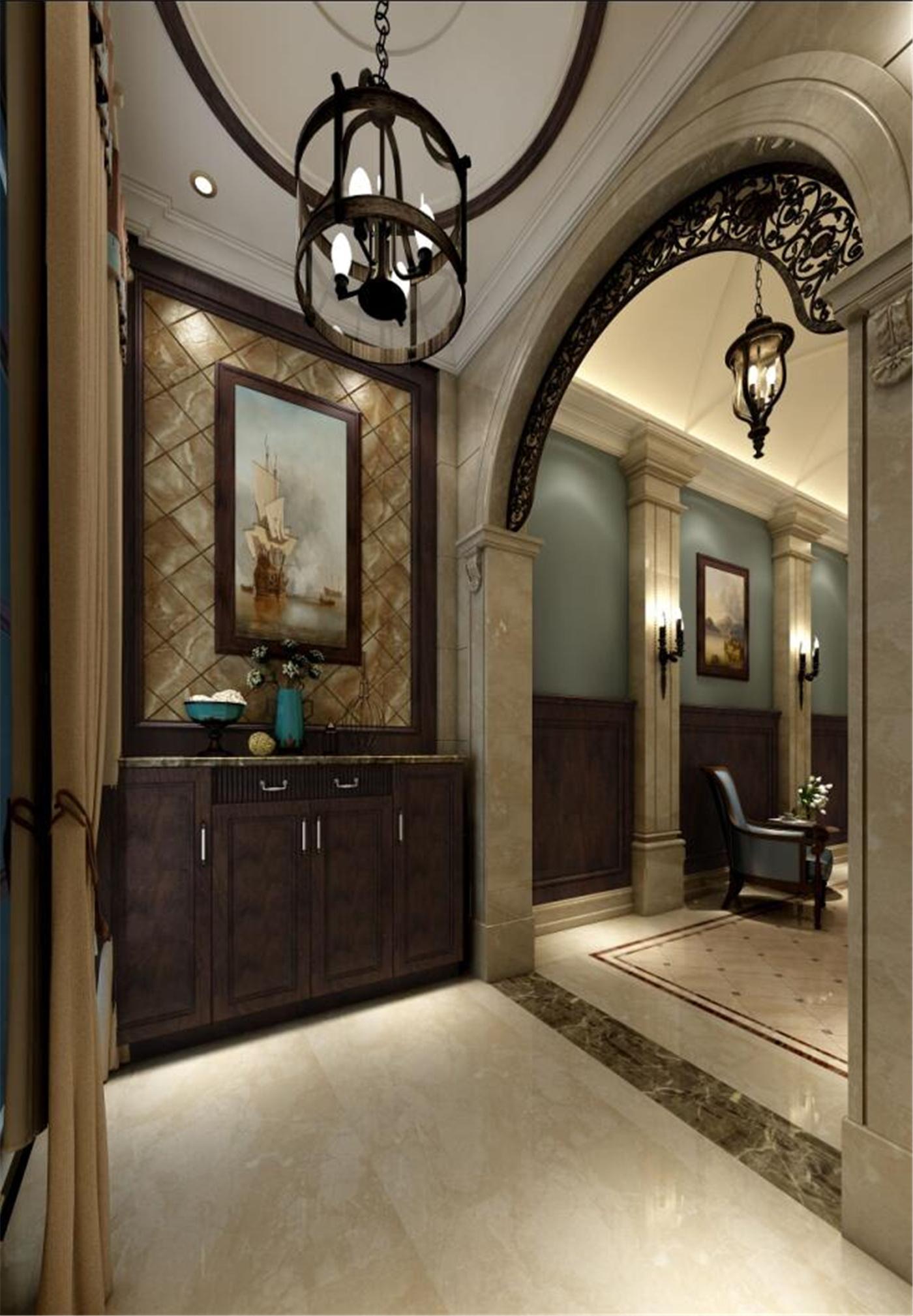 别墅装修美式风格完工实景展示,上海腾龙别墅设计师孙明安作品,欢迎图片