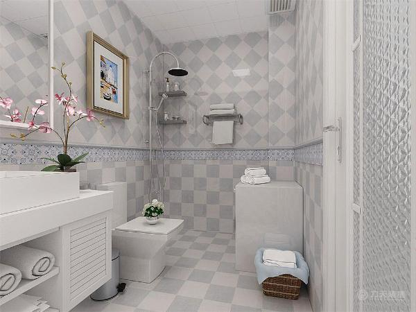 在卫生间和主卧之间的那堵墙面上放置了一幅整墙的花,这里是一处重要的地方,