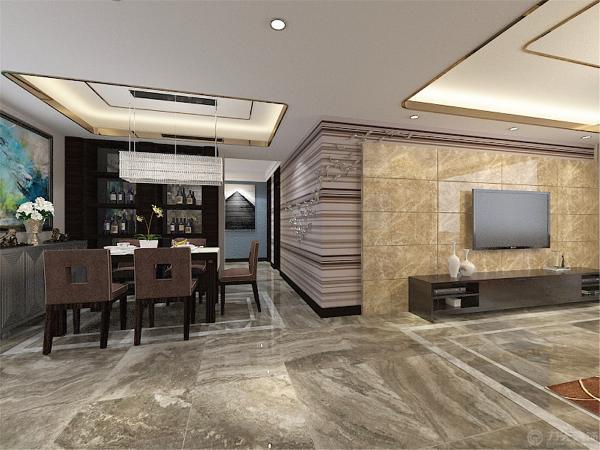 另外灯具的另一个功能是提供柔和,暖色的灯光,让整体素雅的居室不会有太多冰冷的感觉,在沙发背景墙以黄色调为主,展现了一个休闲的氛围,电视墙处理相当简洁而富有品味