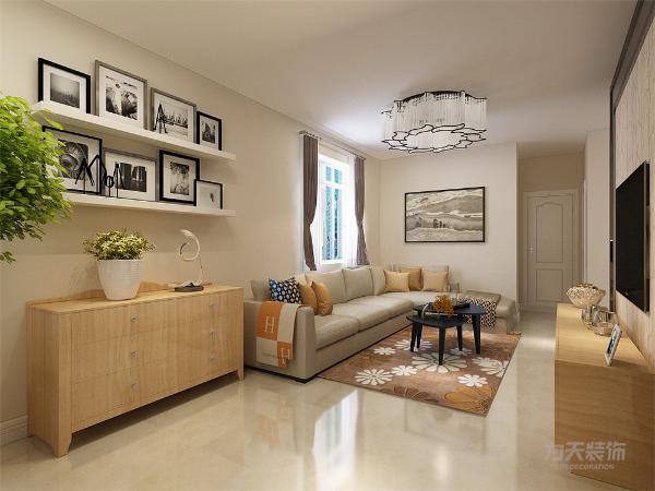 本案使用的是现代风格。在设计上,使用了较多木纹家具,使整个空间变得更加有质感。地面使用了复合木地板。