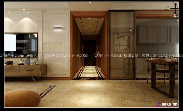 领秀城135平三室两厅现代风格装修效果图