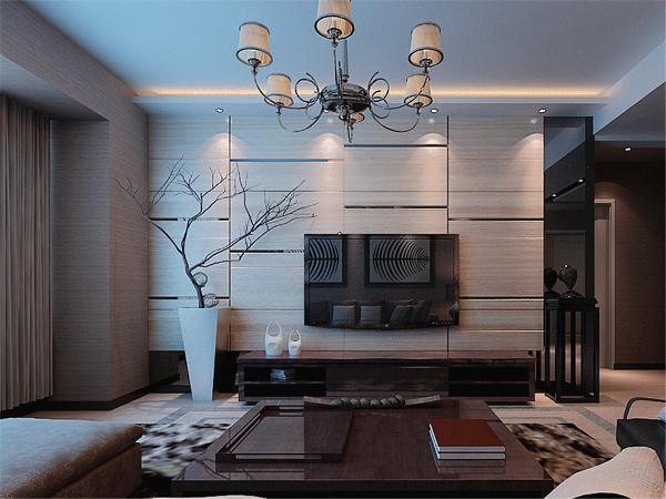 在电视背景墙的装饰上,我们采用了碎花壁纸和文化石装饰背景墙,表现了一种清新气息感,沙发采用布艺的图案造型,加褐色地毯让整个空间出现了亮点。