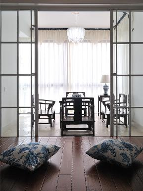 三居 中式 阳台图片来自tjsczs88在青花流素,静雅中式的分享
