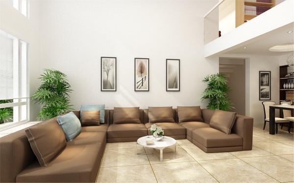 地面搭配大理石地砖,纹理清晰,墙面也运用了暖黄色乳胶漆,与地面相呼应。
