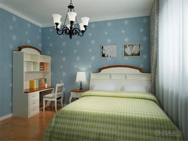 地面采用明亮的瓷砖铺贴可以起到放到空间的视觉效果。家具选用简洁布艺家具和木质家具,温馨舒适。