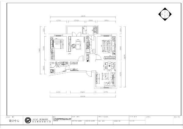 本次案例设计的是昌海里三室一厅96㎡户型。整体来看户型较小,各个空间都较为紧凑主卧室的空间打造成卧室书房套间形式,次卧室较为方正,可放置一张双人床和一组大衣柜。厨房为一个狭长空间,有一个阳台。